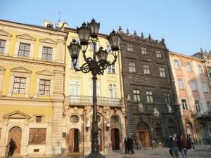 Der Rynok–Platz in Lemberg