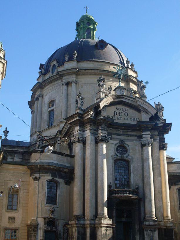 Die Kathedrale des Dominikanerordens in Lemberg