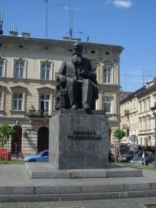 Das Mychajlo-Hruschewskyj-Denkmal in Lemberg