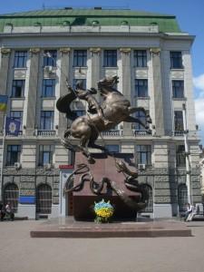 Das St. Georg-Denkmal für Milizionäre in Lemberg
