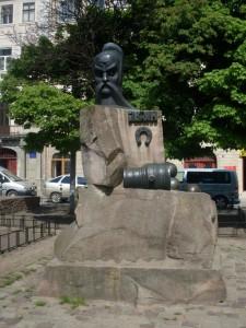 Das Iwan-Pidkowa-Denkmal in Lemberg
