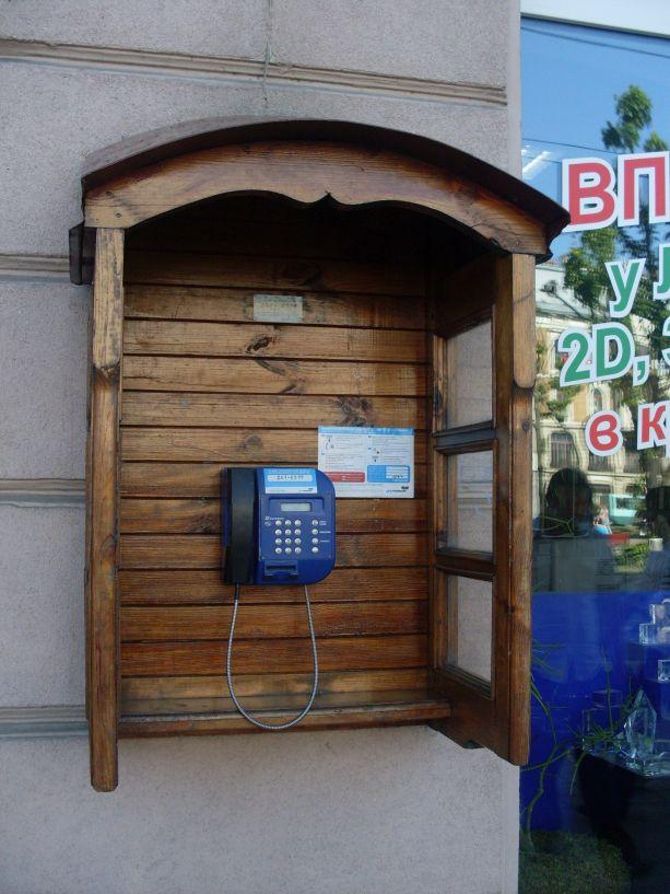 Telefonieren in Lemberg