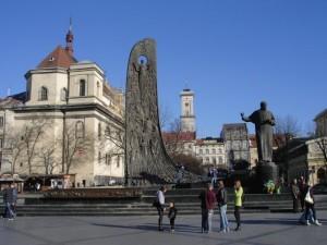 Das Taras–Schewtschenko-Denkmal in Lemberg