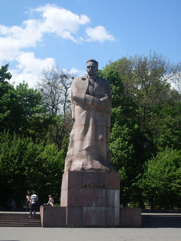 Das Iwan–Franko-Denkmal in Lemberg